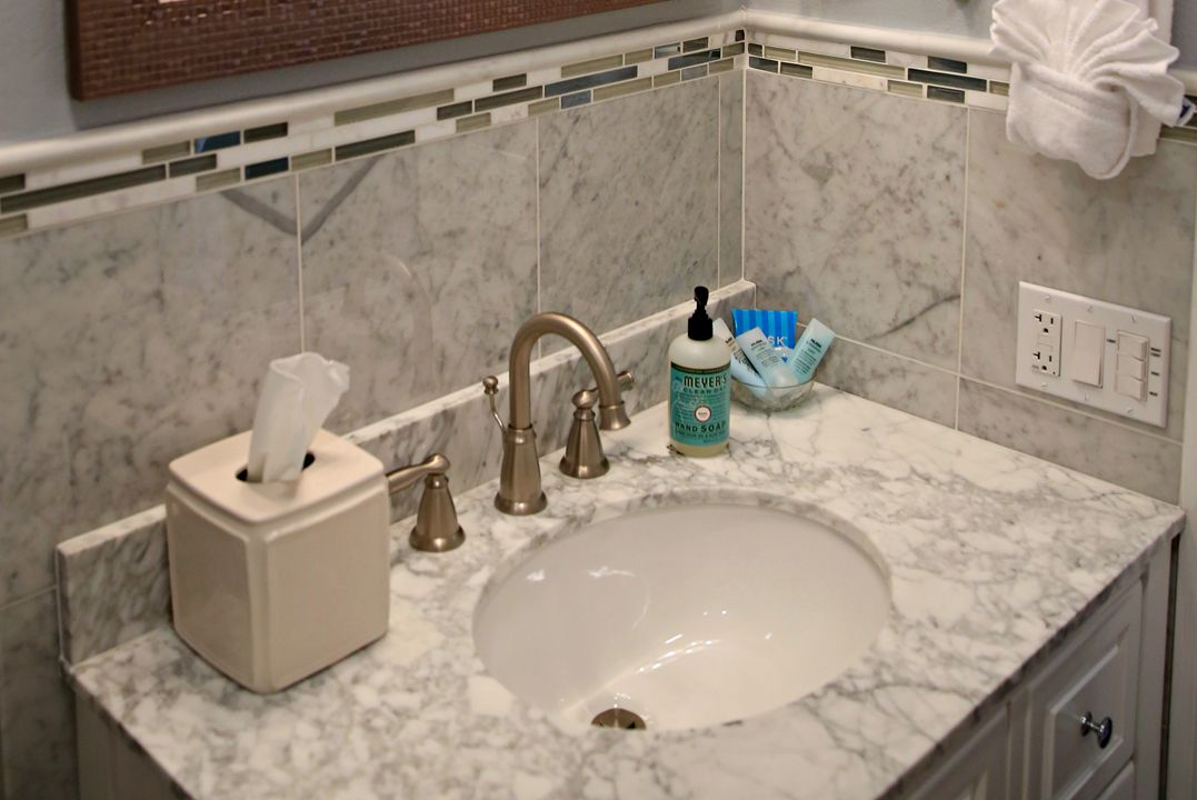 Tercero's Carrara Marble Master Bath